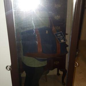 Large Ralph Lauren Polo Navy Duffle Bag Le Sac